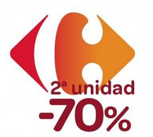 Segunda unidad al 70% menos en Carrefour